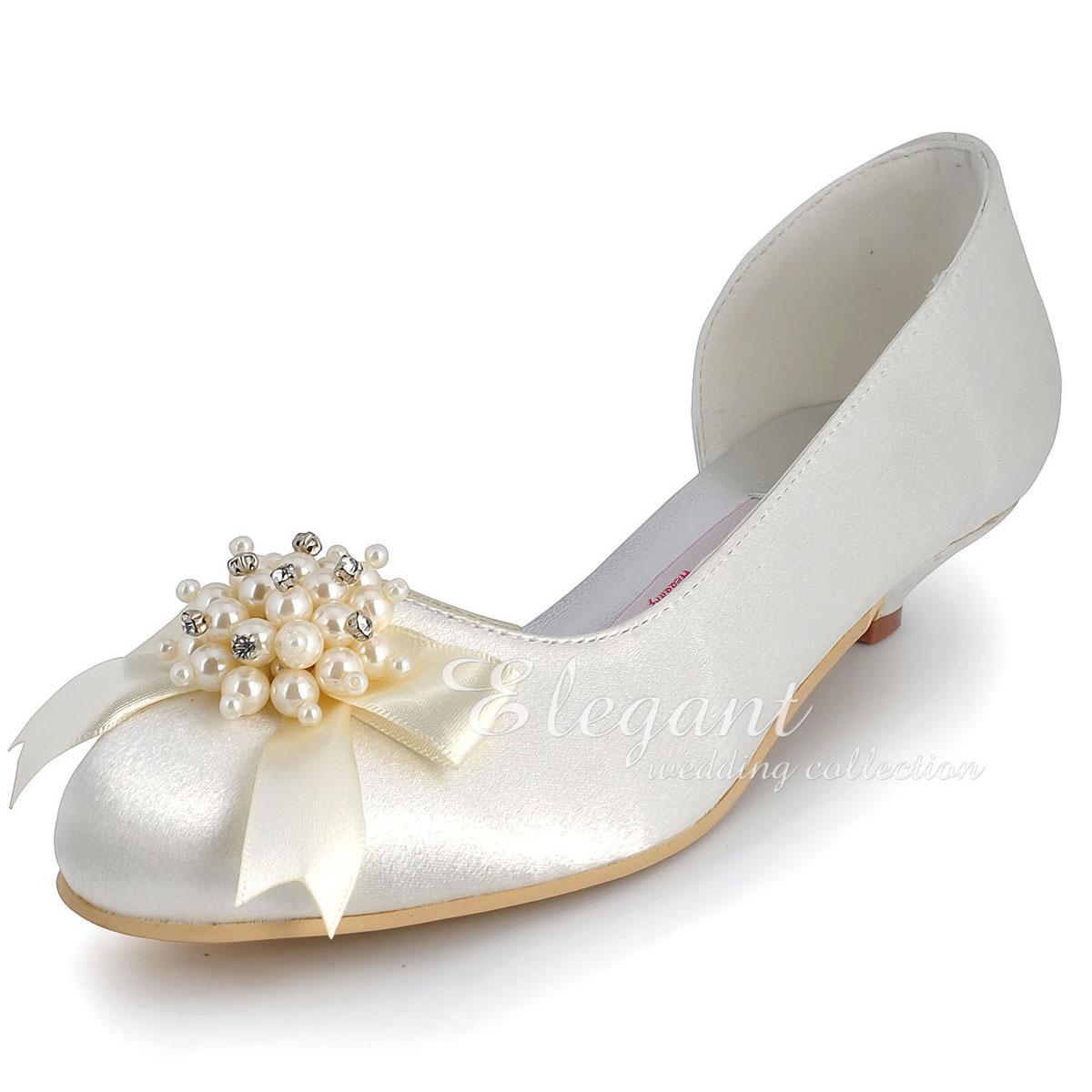 Ivory Wedding Shoes With Rhinestones
